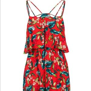 TopShop Petite Red Floral Dress